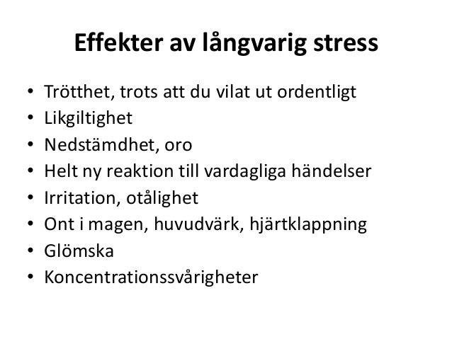 Hjärtklappning vid stress