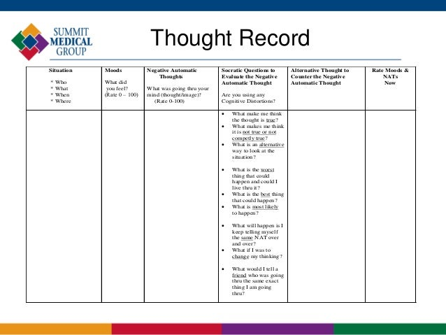 mind over mood thought record pdf
