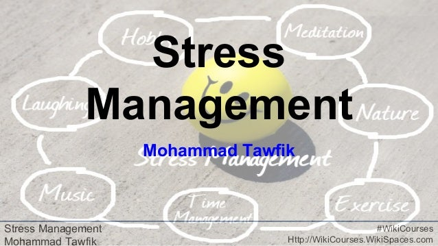 Stress Management Mohammad Tawfik #WikiCourses Http://WikiCourses.WikiSpaces.com Stress Management Mohammad Tawfik