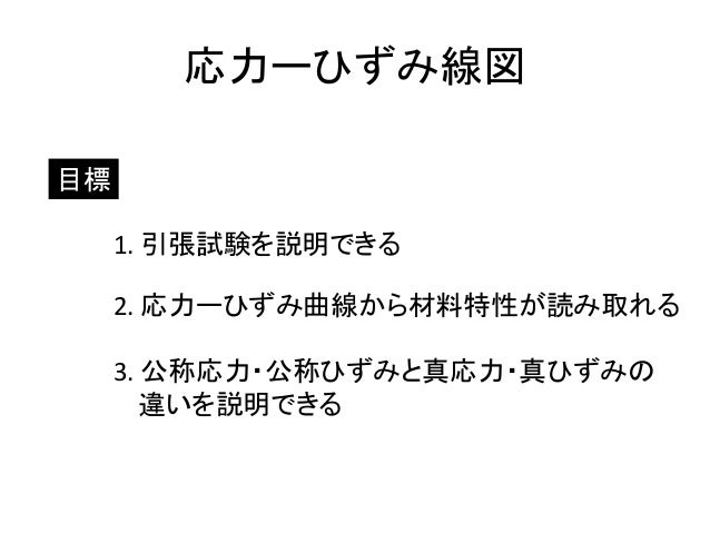 Stress-Strain Curve (In Japane...