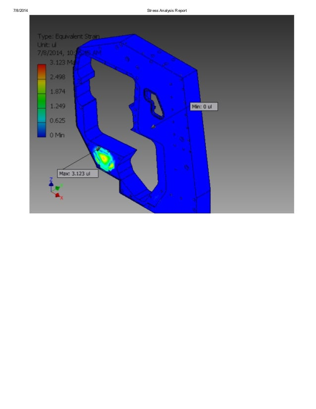 stress analysis report Generate a simulation report after you run a simulation on a part or assembly,  on the ribbon, stress analysis tab, report panel, click report.