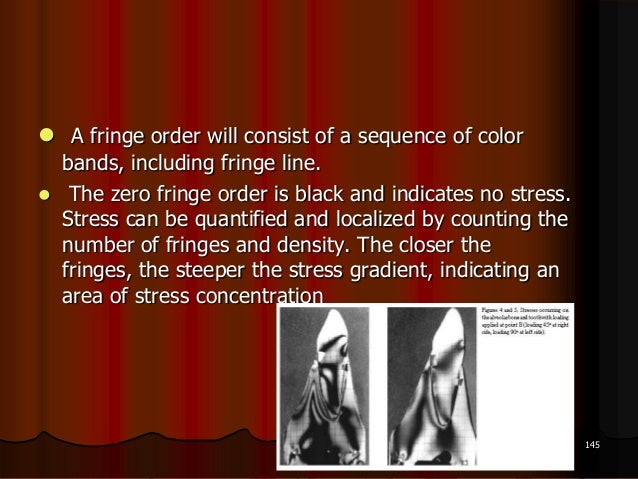  A fringe order will consist of a sequence of colorbands, including fringe line. The zero fringe order is black and indi...