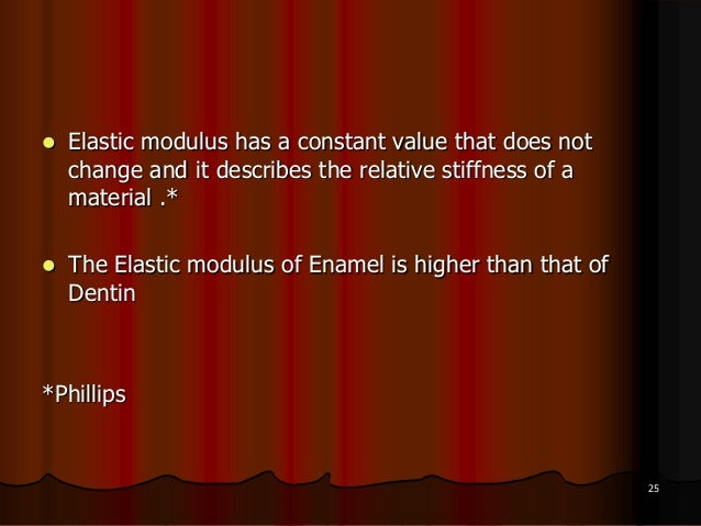  Elastic modulus has a constant value that does notchange and it describes the relative stiffness of amaterial .* The El...