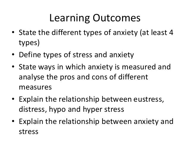 Stress and anxiety 2014