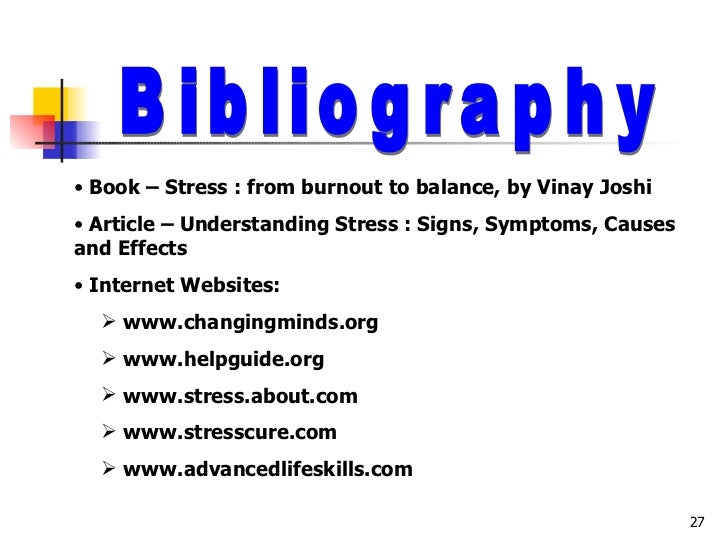 article cause and effect of stress