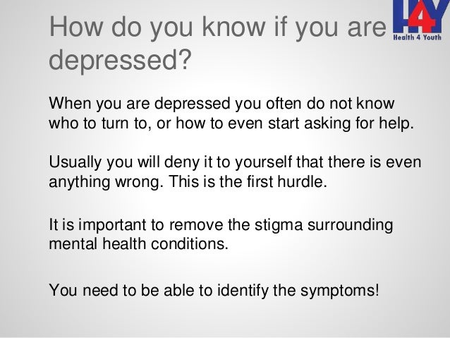 stress and depressionhow do you know if you are depressed?