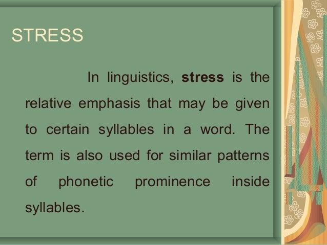 Stress presentation.