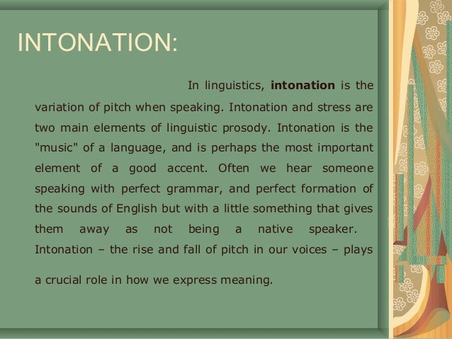 Intonation (linguistics)