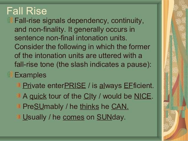 Example rising intonation.
