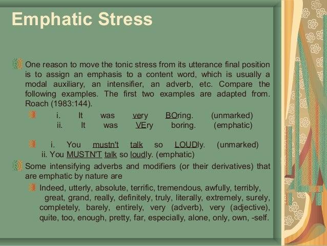 Stress in english.