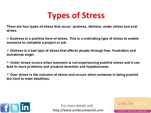 Stress and the four types of stressors