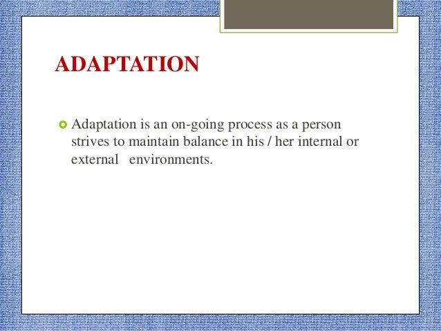 STUART STRESS ADAPTATION MODEL