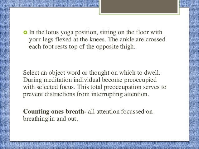  Now release the hold. Recognize a light, warm feeling flowing into the muscles.  Now feel he relaxation on your whole b...