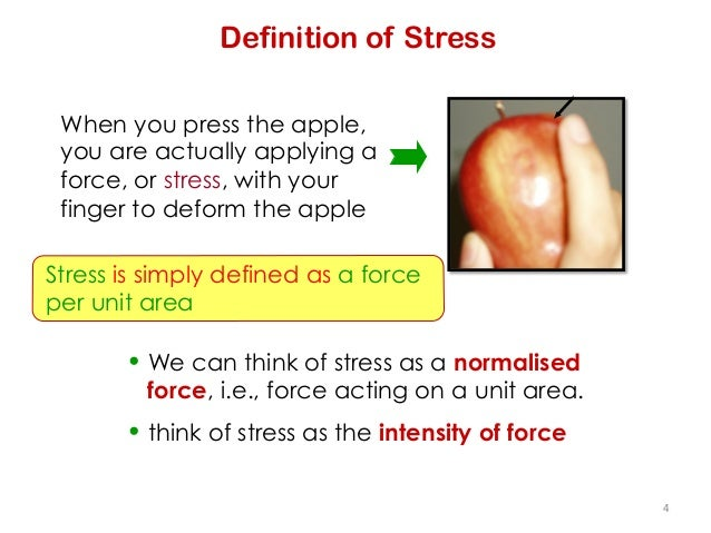 definition stress Stress is the physical, mental and emotional human response to a particular stimulus, otherwise called as 'stressor'.