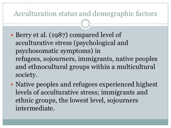 Indicators of Acculturation: A Bilinear, Multidimensional Approach