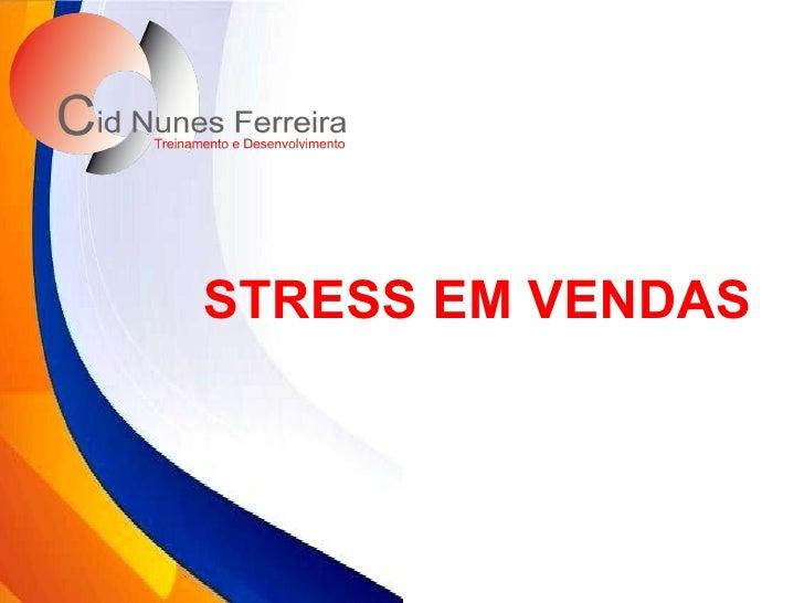 STRESS EM VENDAS
