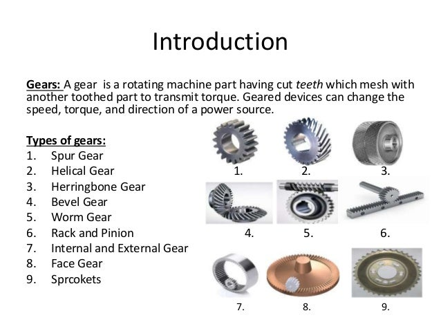 Types Of Gears : Stresses in straight tooth bevel gear by vikas
