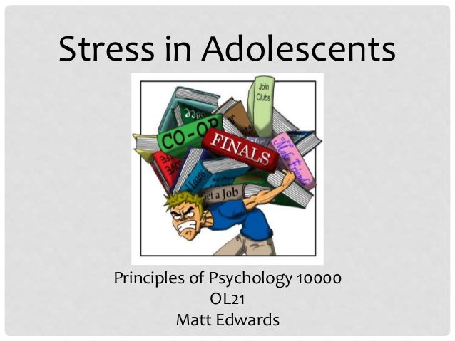 "the effects of stress among adolescents What causes teen stress  a focus on stress and coping among east baltimore african american adolescents"" found that out of  what causes stress in teens."