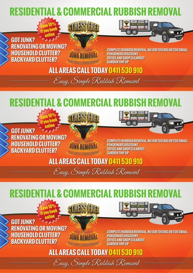 Free Junk Removal >> Stress Free Junk Removal Flyer