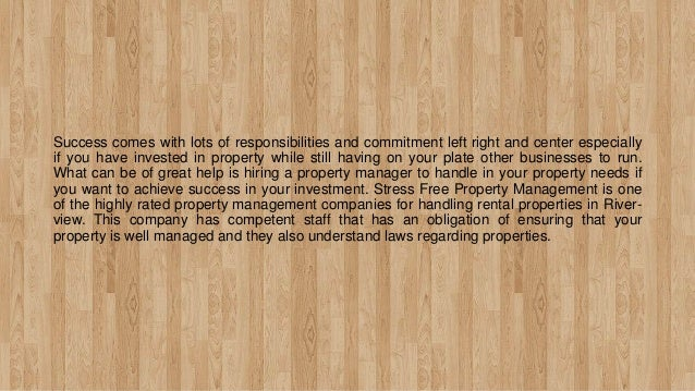 Stress Free Property Management - For Overall Property Maintenance Slide 2