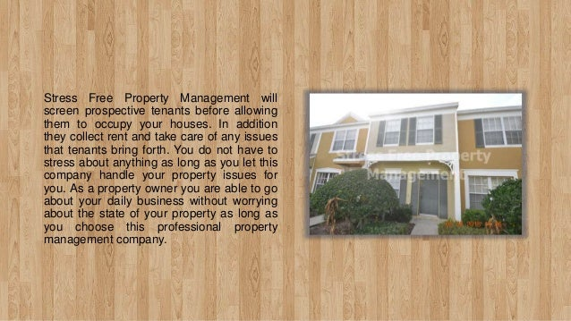 Stress Free Property Management - For Overall Property Maintenance Slide 3