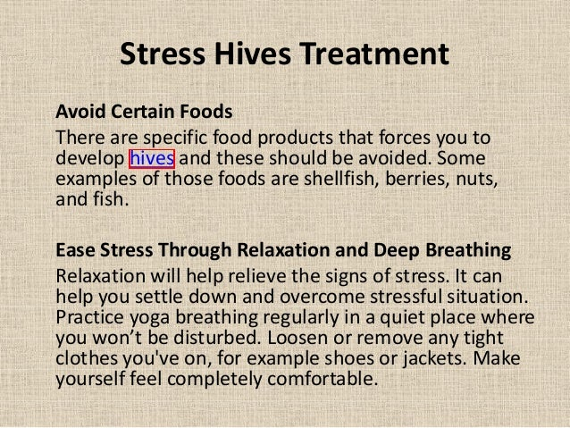 Stress Hives – How to Treat Stress Hives Fast
