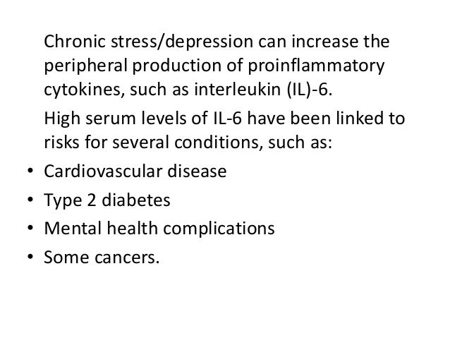 Stress induced immune dysfunction