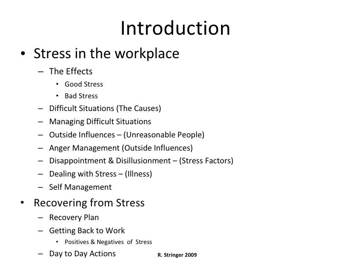 Stress on the job can impact workplace safety