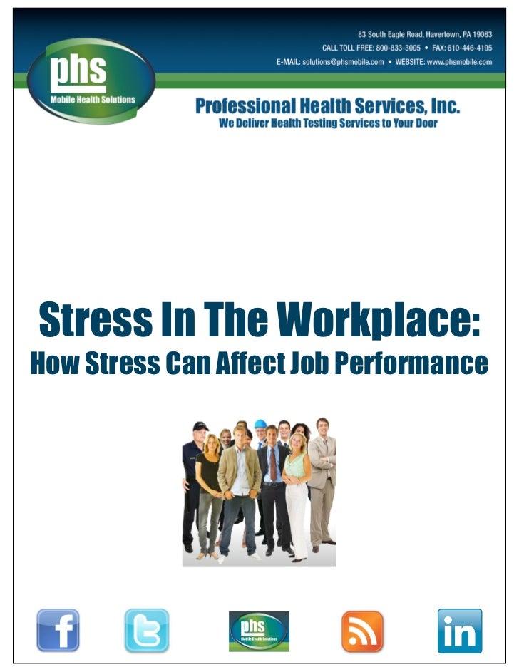 job stress to job performance 72 the relation between work-family conflict, job stress, organizational  commitment and job performance: a study on turkish primary teachers senem  nart a.