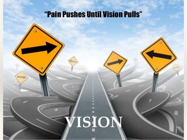 Billedresultat for pain pushes until the vision pulls