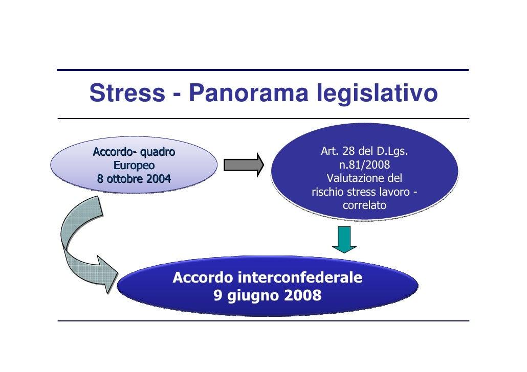 Rischio stress lavoro correlato ppt presentation