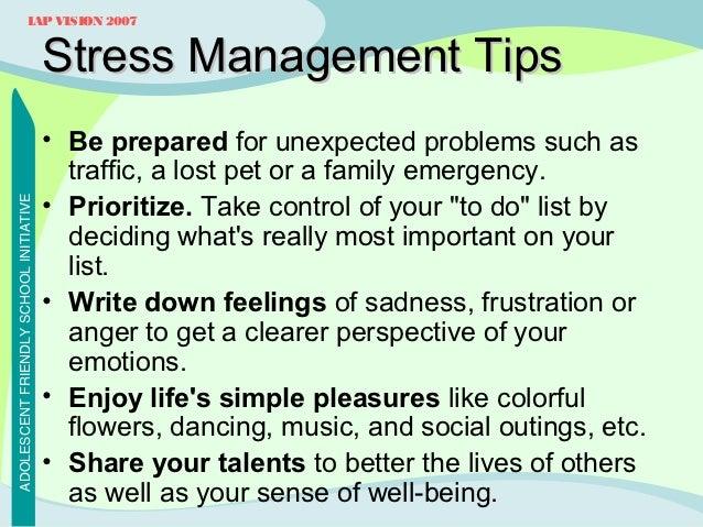 Easy stress management techniques