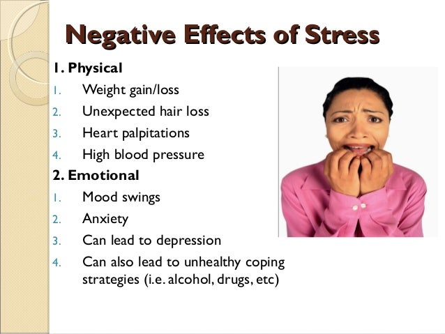 harmful mental and physical effects of stress and advice for alleviating work stress Start studying chapter 15 stress -psychology 101 practice quiz physical, mental a _____ increases the negative effects of stress.