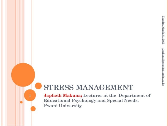 Managing stress and university