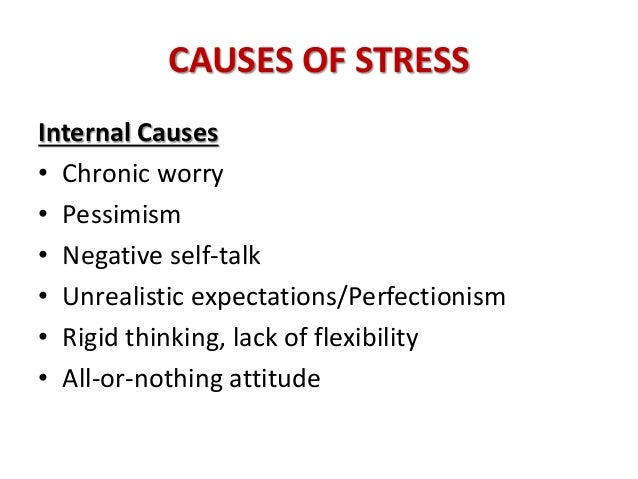 causes of stress Here are five (5) leading causes and cures of stress in the workplace.