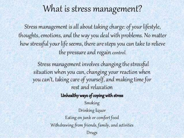 what is stress how is it Stress is what you feel when you have to handle more than you are used to when you are stressed, your body responds as though you are in danger it makes hormones that speed up your heart, make you breathe faster, and give you a burst of energy.
