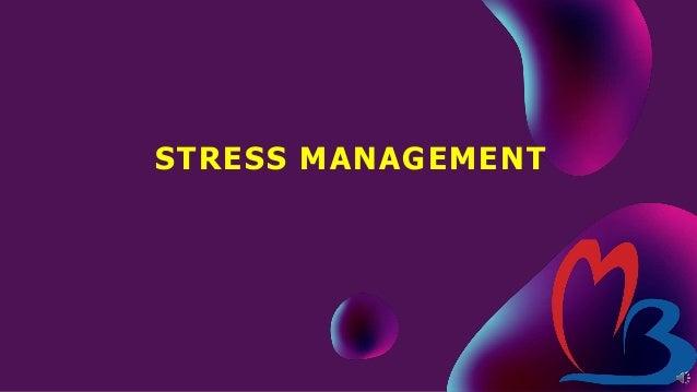 Stress management&4 A's of stress management Slide 2