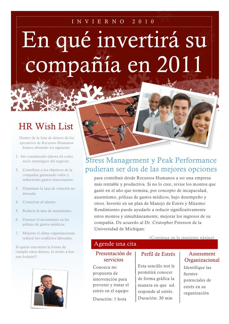 Stress Management And Peak Performance Diciembre 2010