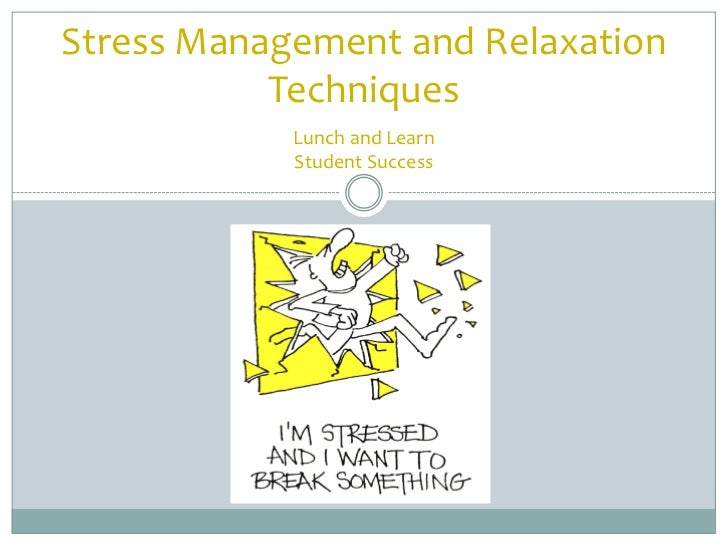 Stress Management and Relaxation           Techniques            Lunch and Learn            Student Success