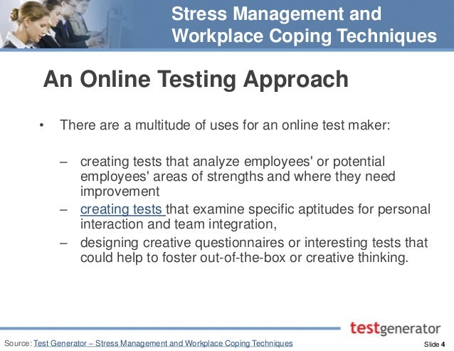 stress at workplace research methodology Understanding stress and bullying in  research, but with a limited  stage 2 involved the design of a methodology to measure workplace stress and bullying.