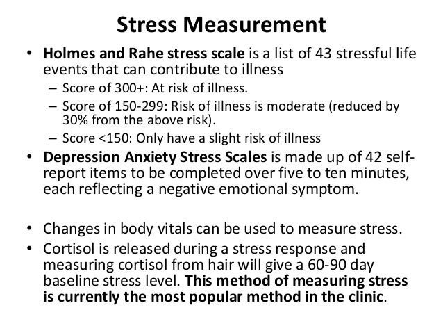 holmes and rahe stress scale Holmes-rahe stress test in the past 12 months, which of these have happened to you.