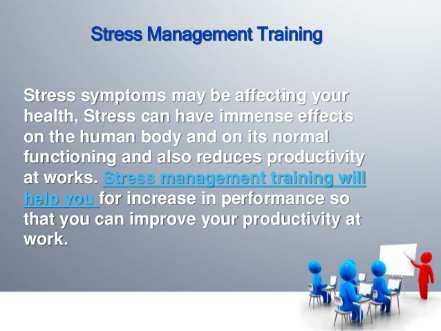 stress management at workplace