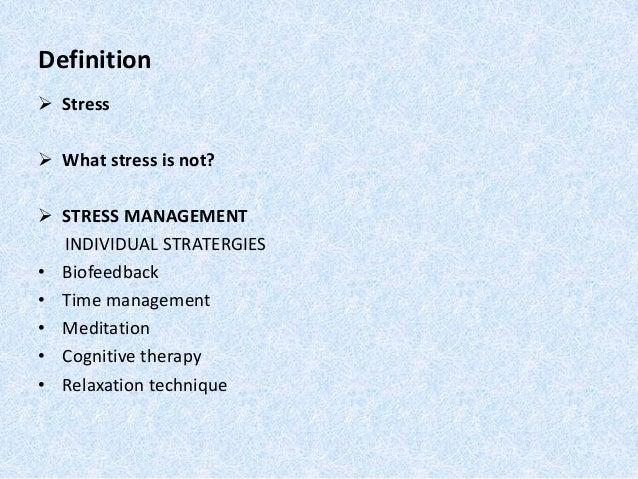 Stress Managemnet Of Employees At Shree Ramkrishna Export