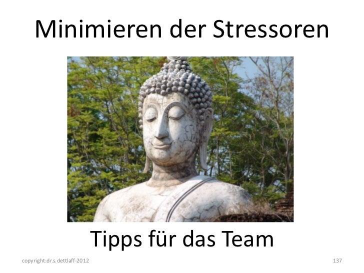 Minimieren der Stressoren                               Tipps für das Teamcopyright:dr.s.dettlaff-2012                    ...