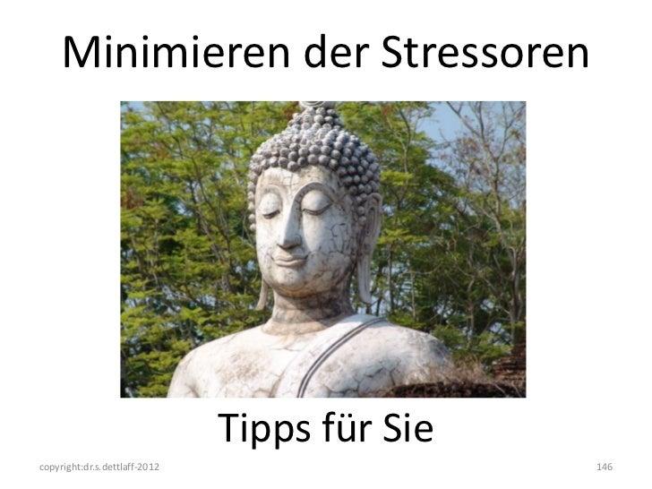 Minimieren der Stressoren                               Tipps für Siecopyright:dr.s.dettlaff-2012                   146
