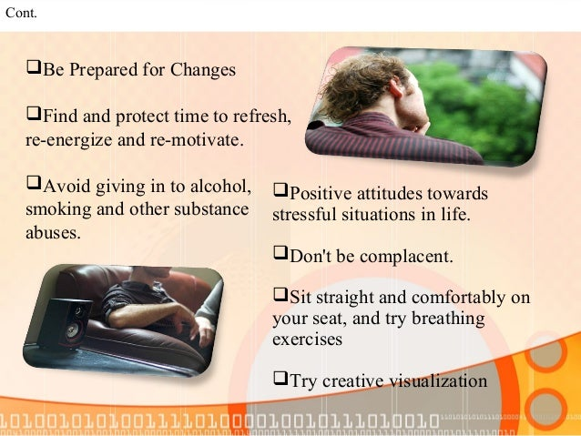 Types of Stress management  (A)Acute Stress Acute stress is usually for short time and may be due to work pressure, meeti...