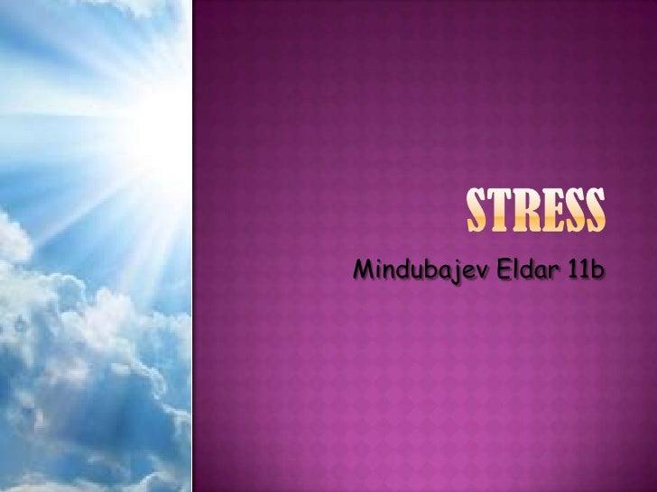 STRESS<br />MindubajevEldar 11b<br />