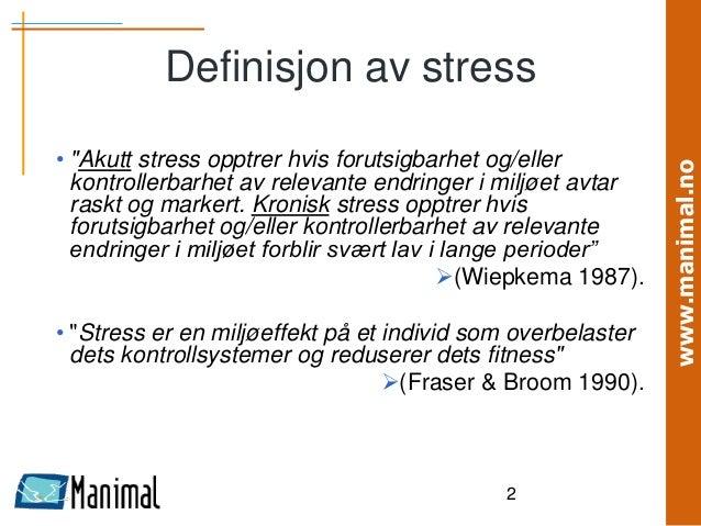stress definisjon