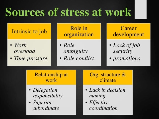 Image result for sources of work stress