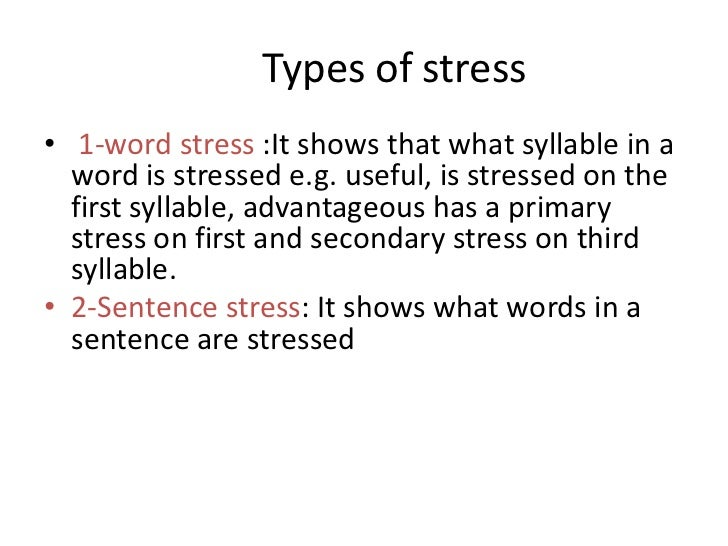 types of word stress in english